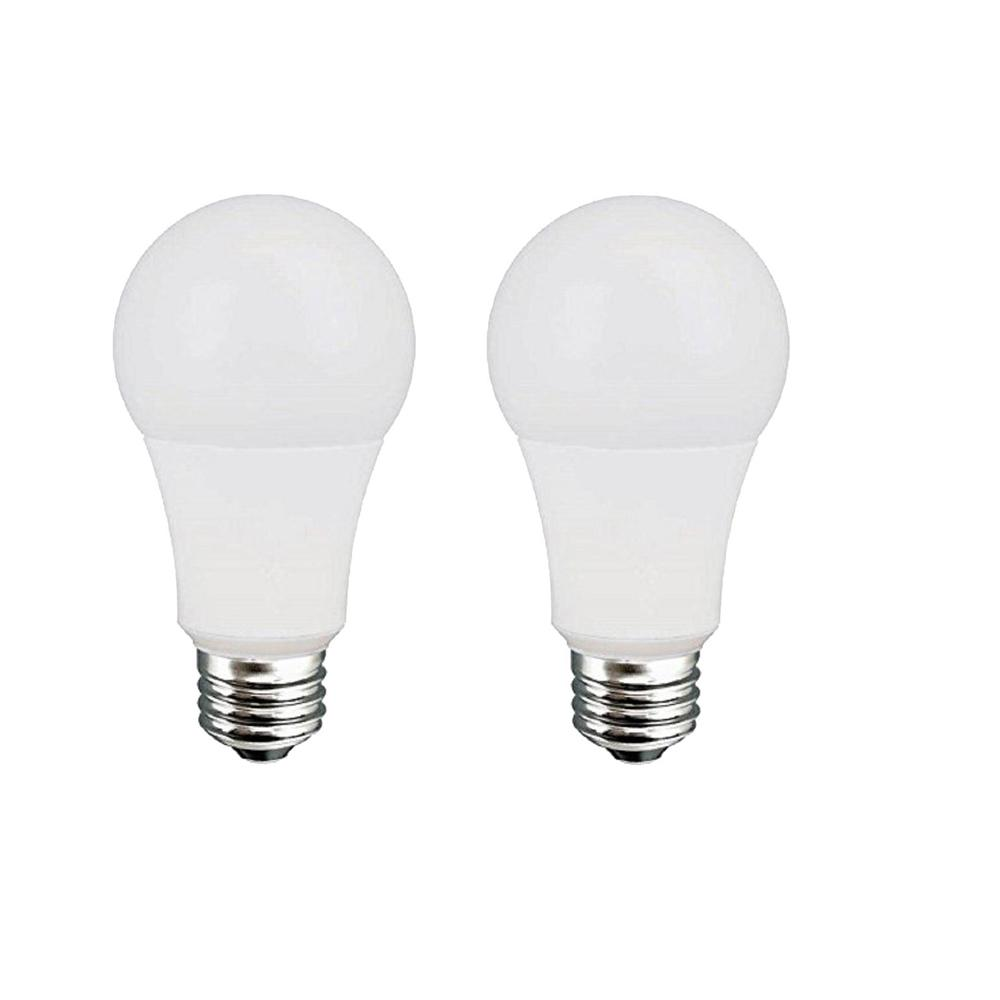 60w Equivalent Daylight A19 Dimmable Led Light Bulb 2 Pack