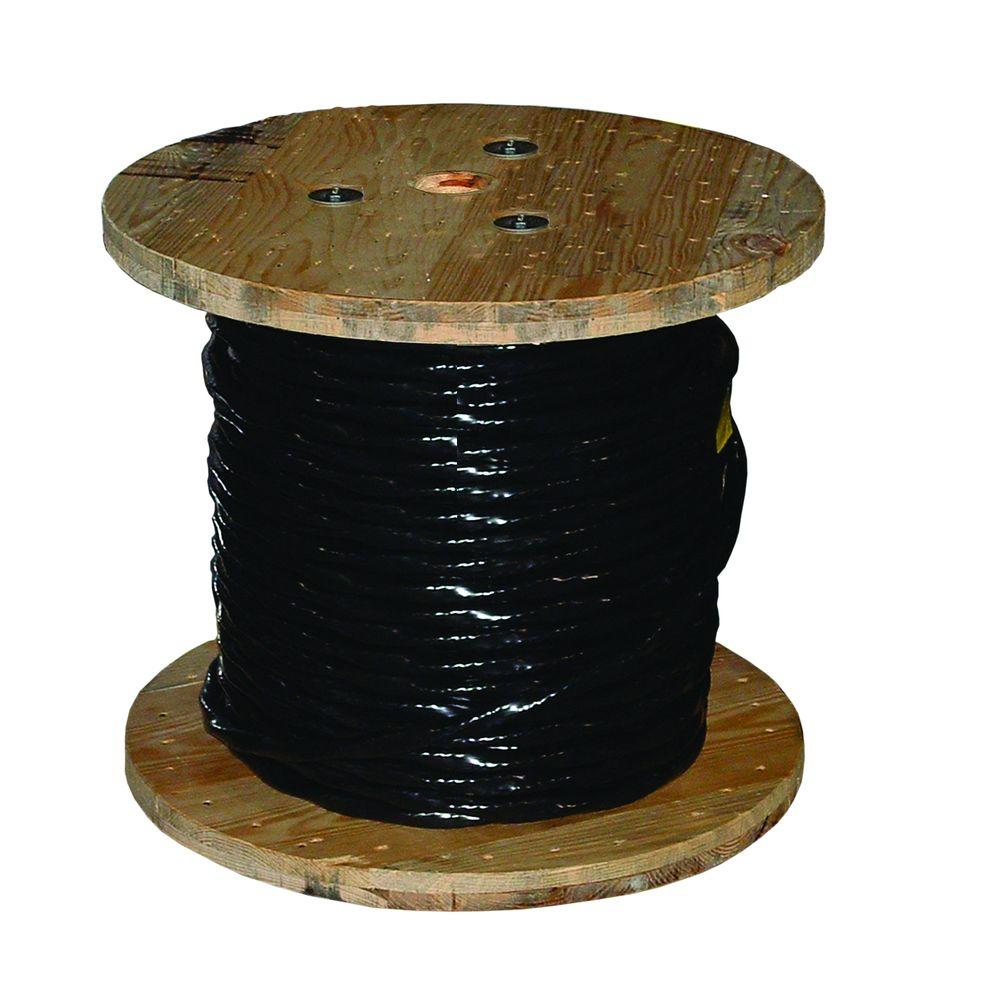 Southwire 500 ft. 4/0 Black Stranded AL USE-2 Cable