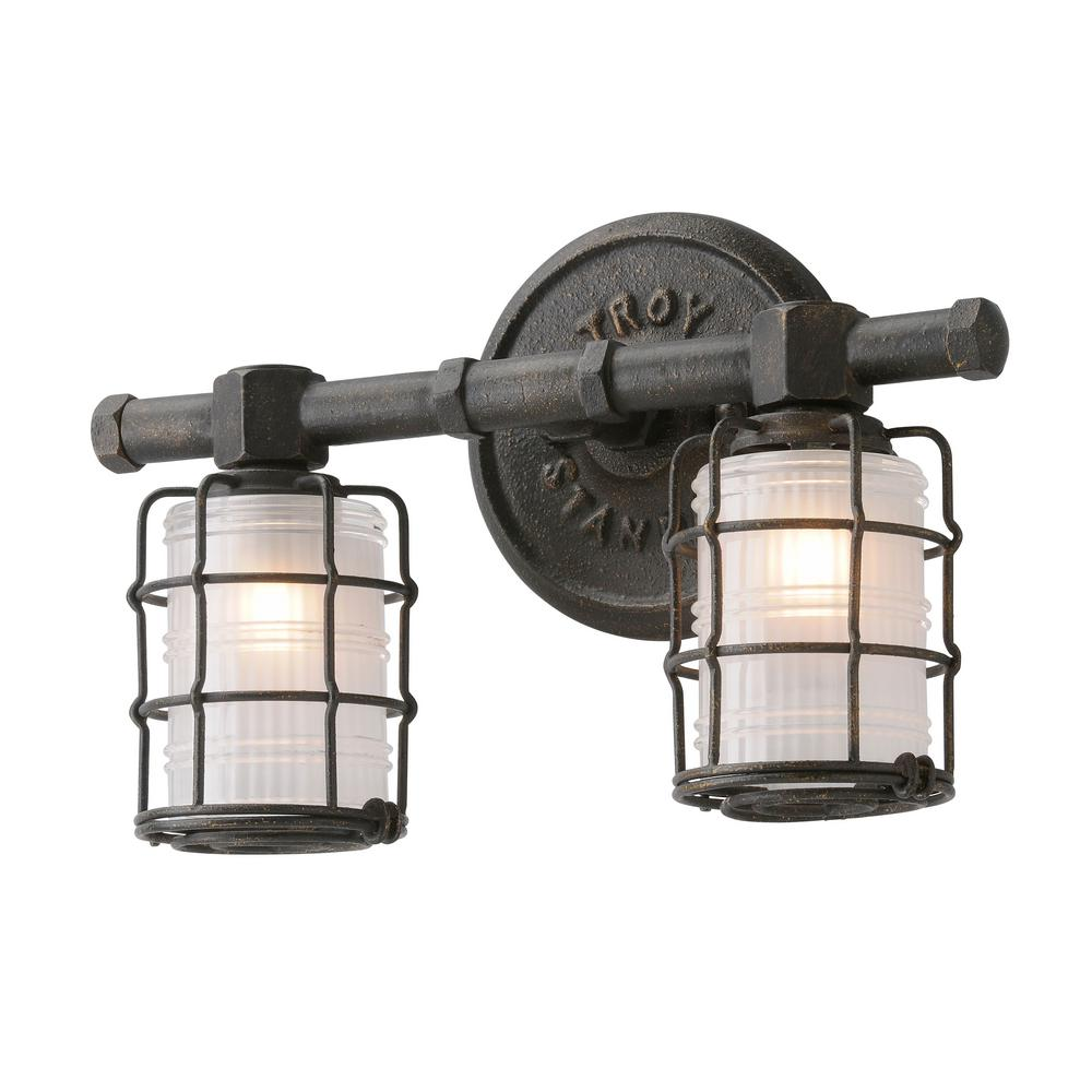 Troy Lighting Mercantile 2 Light Vintage Bronze Vanity