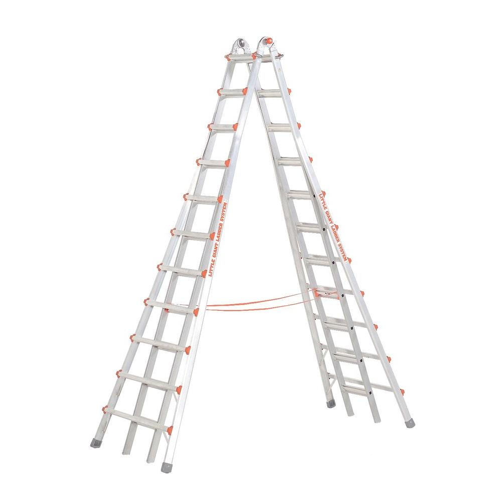 SkyScraper 21 ft. Aluminum Step Multi-Position Ladder with 300 lb. Load Capacity Type IA Duty Rating