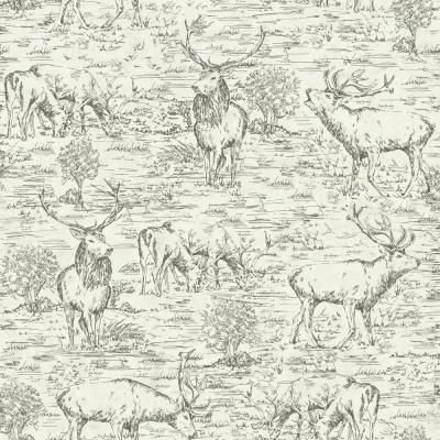 Stag Toile Wallpaper