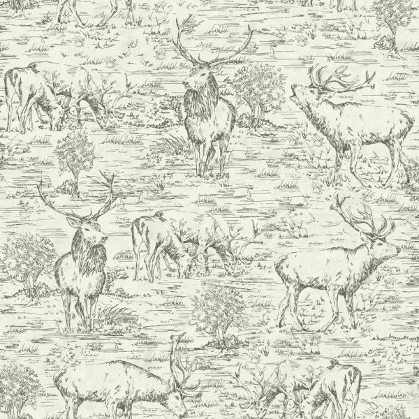 Stag Toile Paper Strippable Wallpaper (Covers 56 sq. ft.)