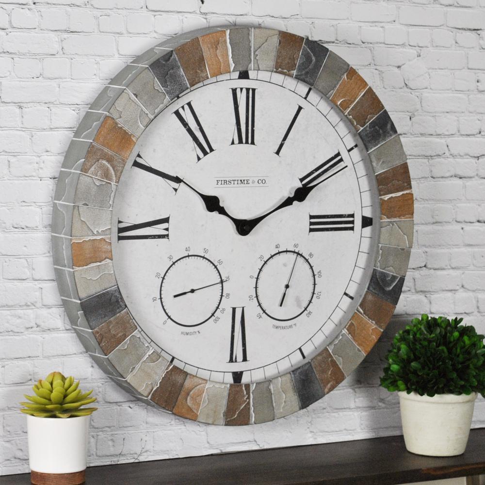 18 in. Garden Stone Outdoor Clock