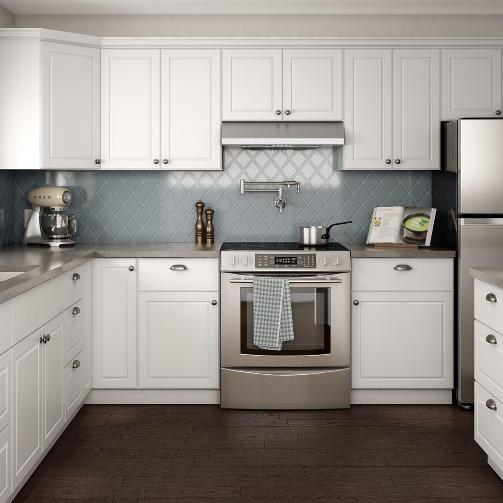 Hampton Bay Madison Assembled 36x34 5x24 In Base Cabinet With Soft