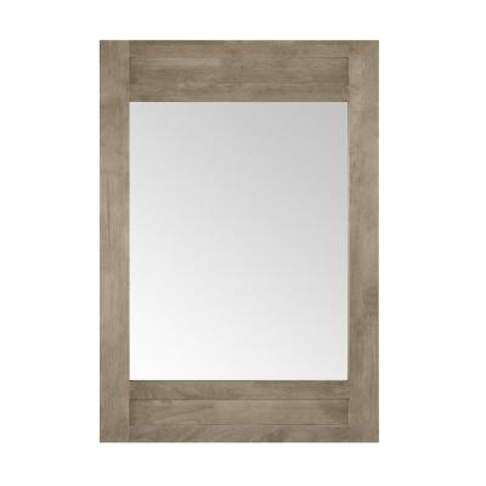 Aberdeen 24 in. x 32 in. Framed Wall mount Mirror in Antique Oak