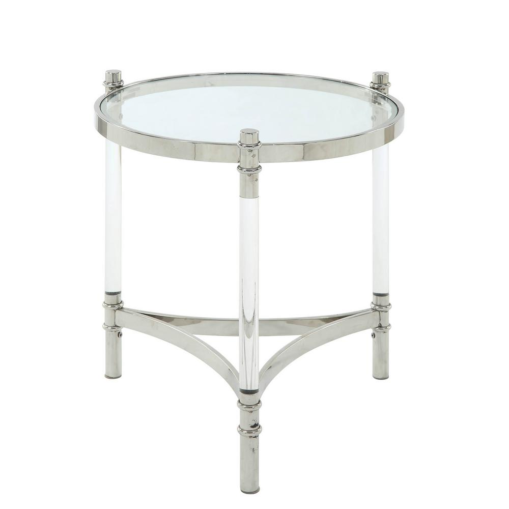 Acme Furniture Peony Clear Acrylic Stainless Steel And Clear Glass