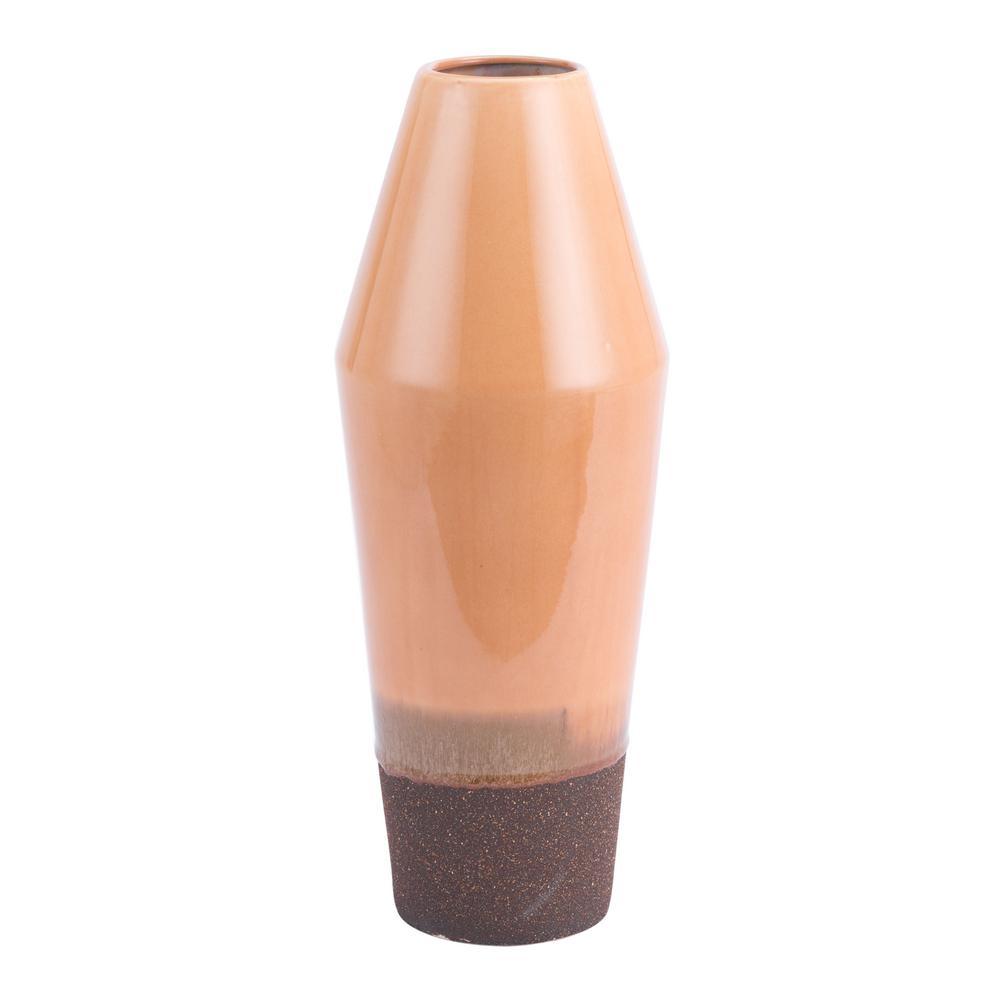 Light Orange Marsala Large Decorative Vase