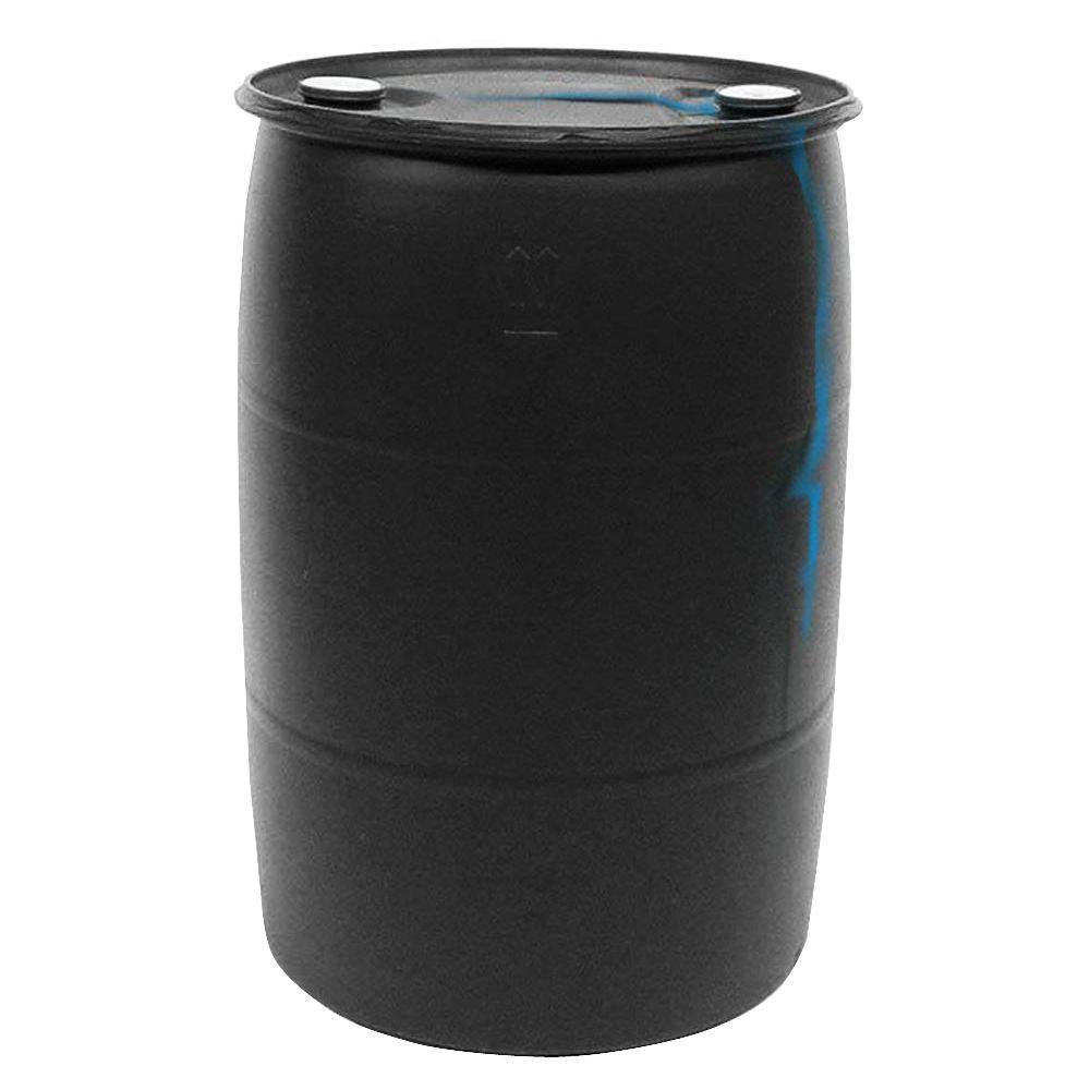 55 Gal Black Plastic Drum