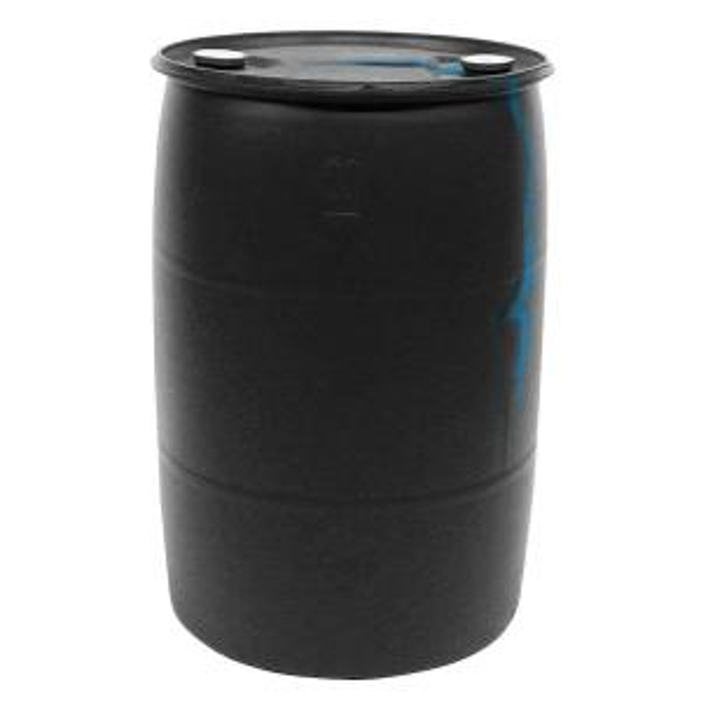 55 Gal Black Industrial Plastic Drum