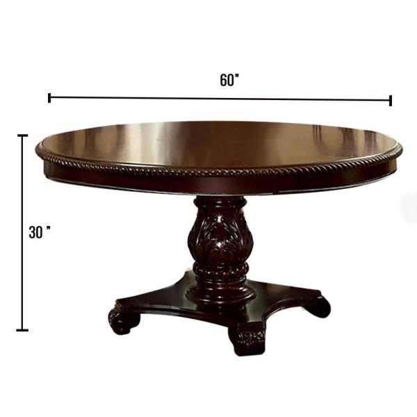 William's Home Furnishing Bellagio Brown Cherry Round Dining Table-CM3319RT-TABLE - The Home Depot