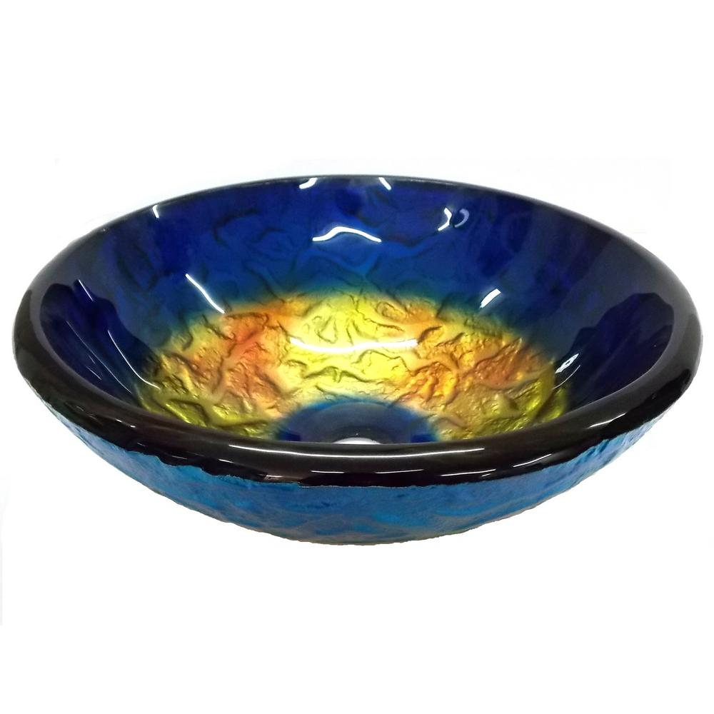 Fontaine Koi And Lilies Glass Vessel Sink Fsa Vs Psz003d