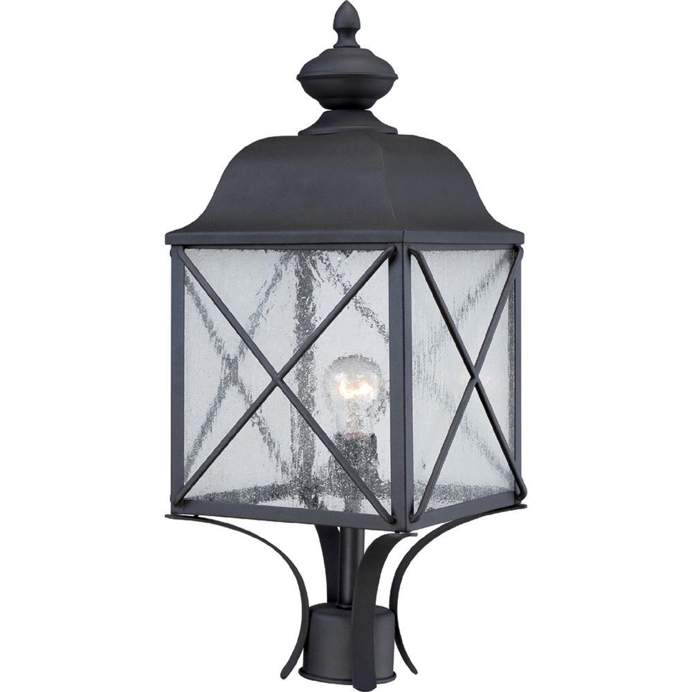 Sofia 1-Light Textured Black Outdoor Post Light