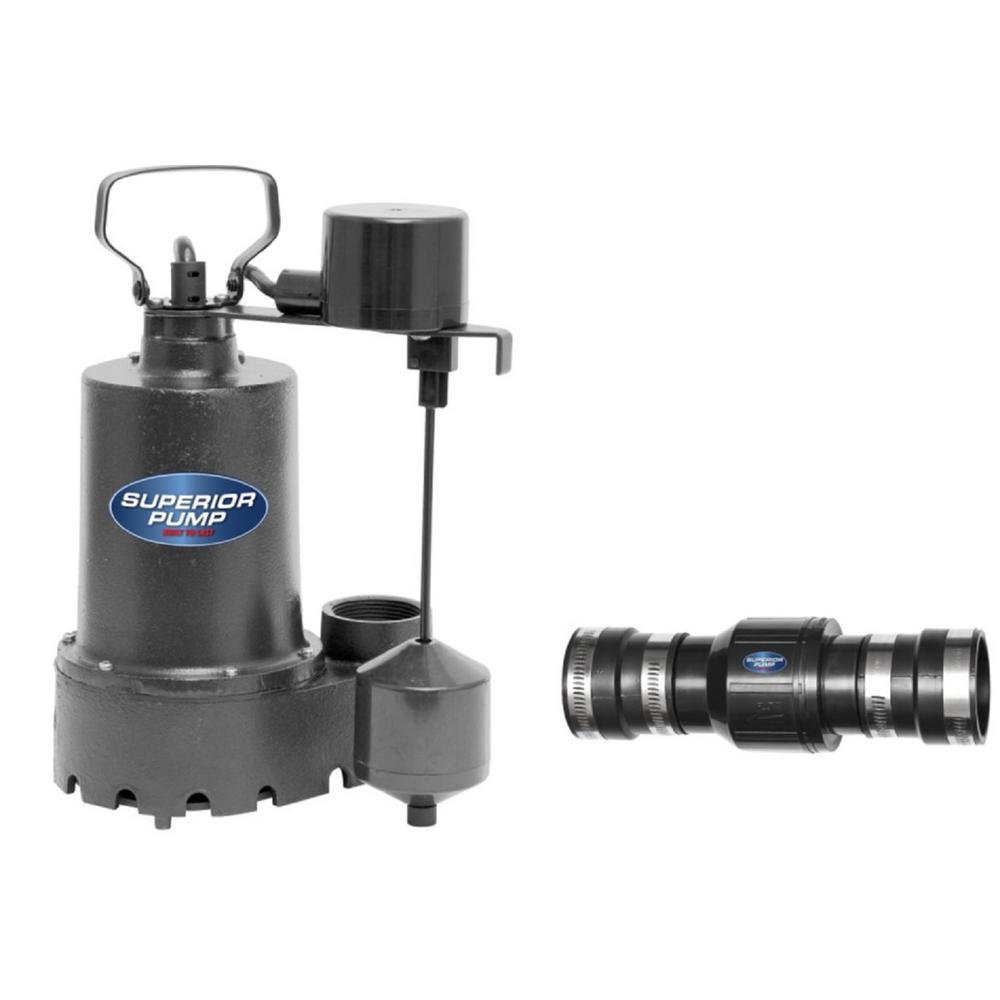 Superior Pump 1/3 HP Submersible Cast Iron Sump Pump Kit