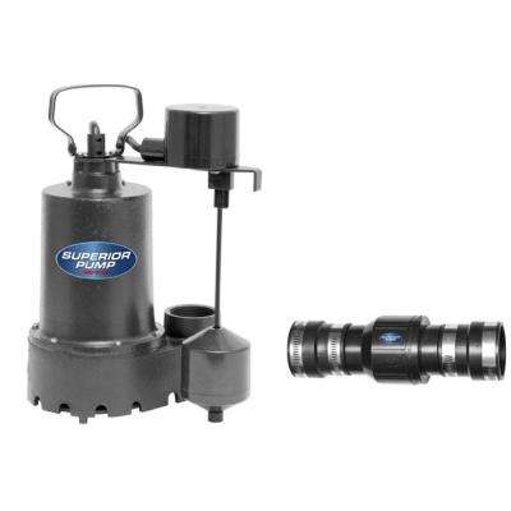 1/3 HP Submersible Cast Iron Sump Pump Kit