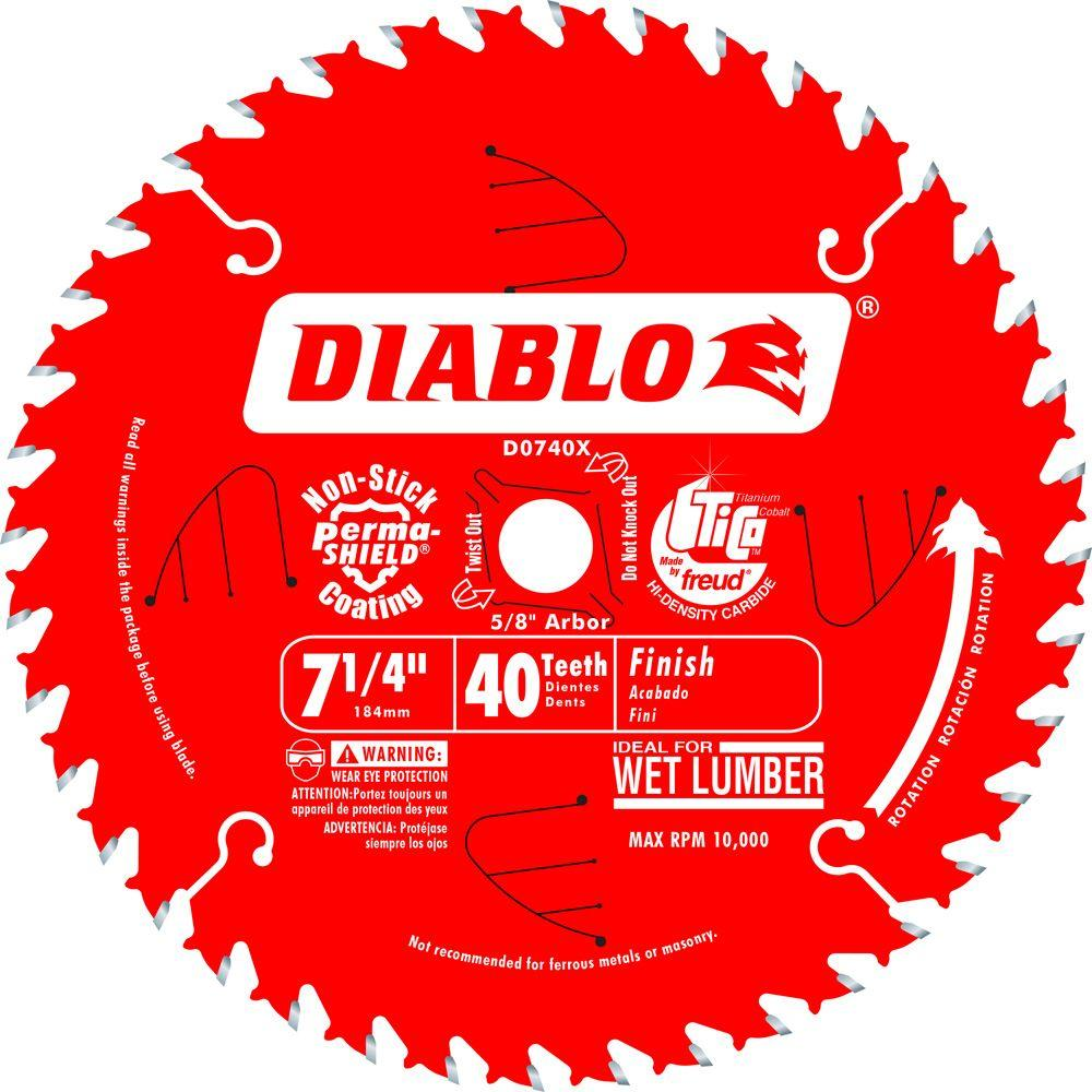 Diablo 7-1/4 in. x 40-Tooth Finish Saw Blade