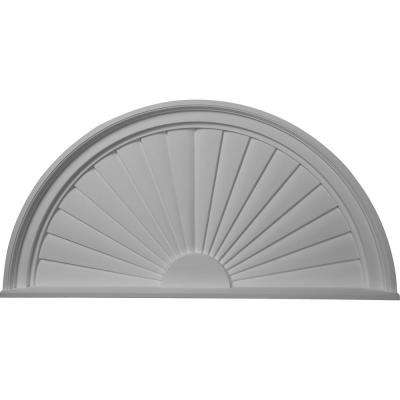 36 in. x 2 in. x 18 in. Half Round Sunburst Pediment