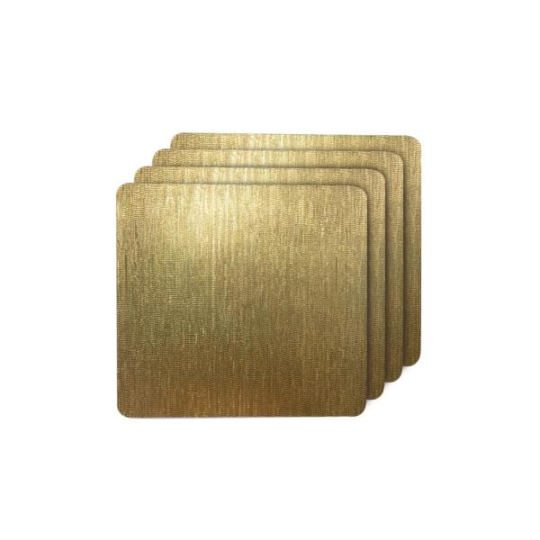 Dainty Home Galaxy Gold Metallic Square Placemat (Set of 4) 4GALSQ1515GO