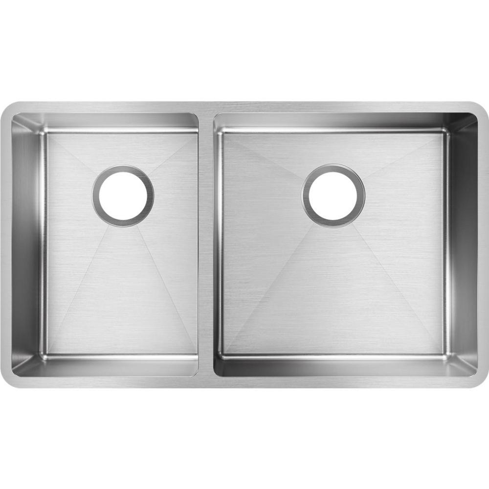 31 Double Undermount Kitchen Sink