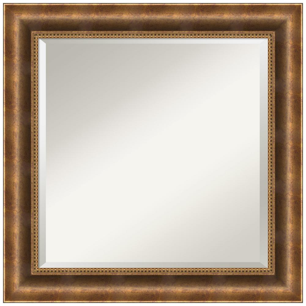 Manhattan Bronze 25.38 in. x 25.38 in. Bathroom Vanity Wall Mirror