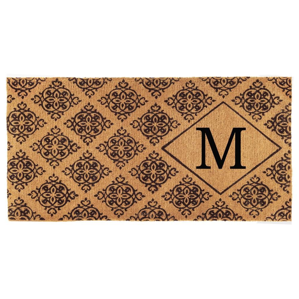 Home & More Regency 36 in. x 72 in. Monogram M Door Mat