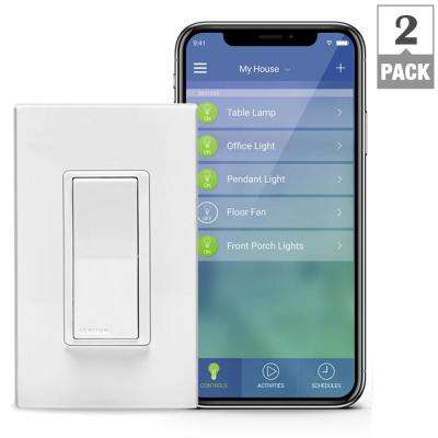 Decora Smart Wi-Fi 15A LED/ Switch, No Hub Required, Works with Alexa, Google Assistant and Nest (2-Pack)