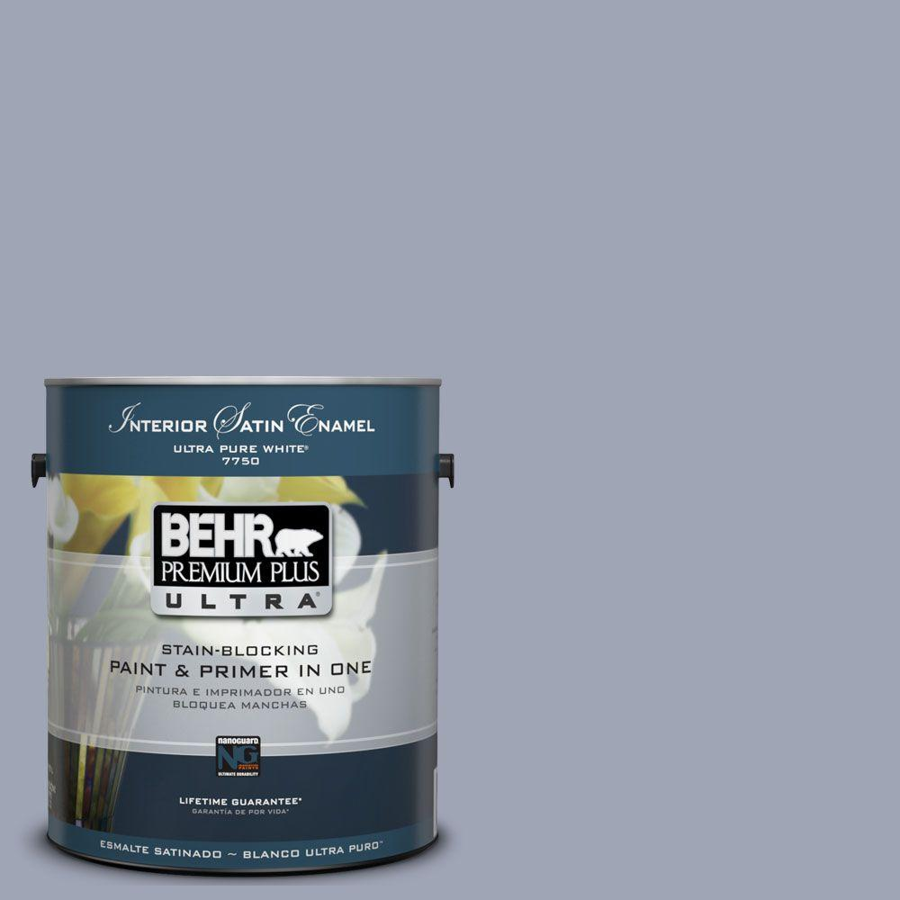 BEHR Premium Plus Ultra 1-Gal. #UL240-8 Great Falls Interior Satin Enamel Paint
