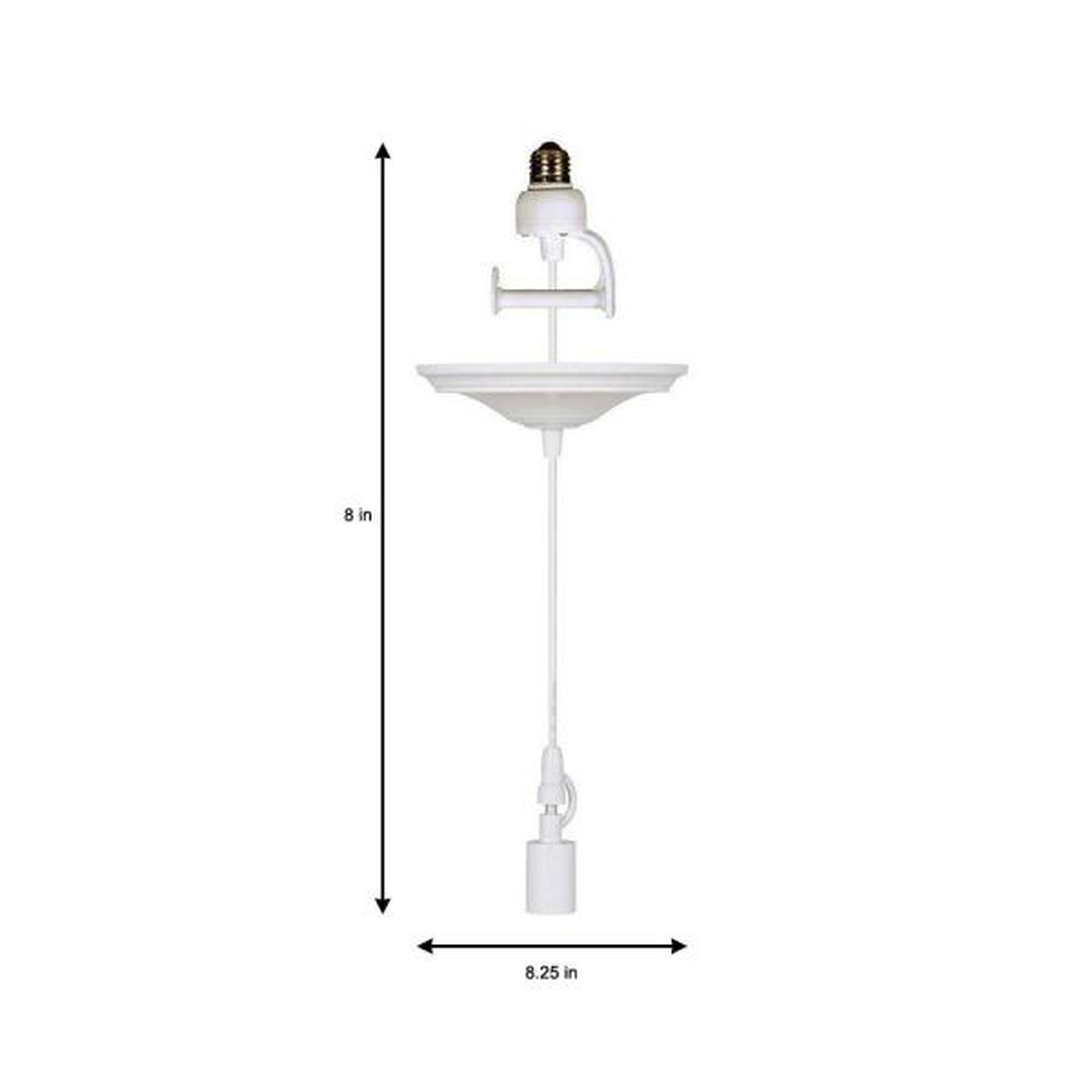 White Pendant Adapter For Lamp