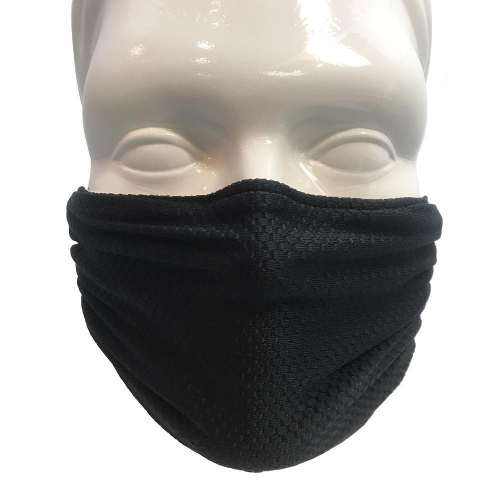 black disposable dust mask
