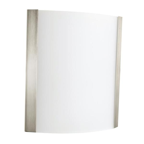 Ideal 5 in. Satin Nickel Sconce with Glass
