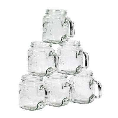 Serving 24 oz. Clear Glass Mugs (6-Pack)