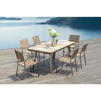 Pompano Rectangular Aluminum Outdoor Dining Table