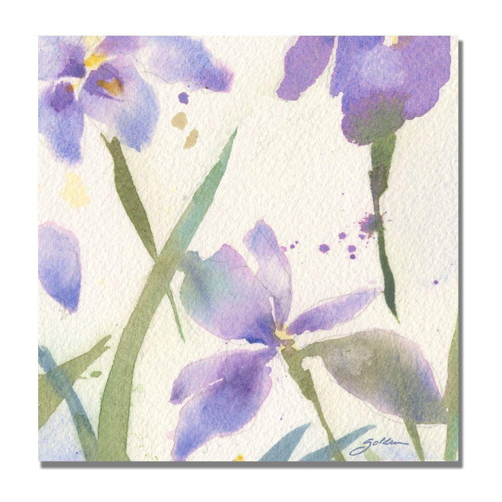 Trademark Fine Art 18 in. x 18 in. Purple Iris Canvas Art