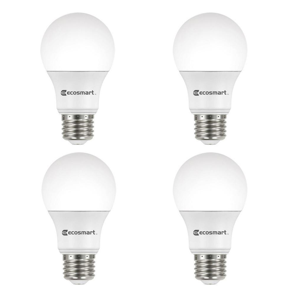40-Watt Equivalent A19 Dimmable Energy Star LED Light Bulb Soft White (4-Pack)