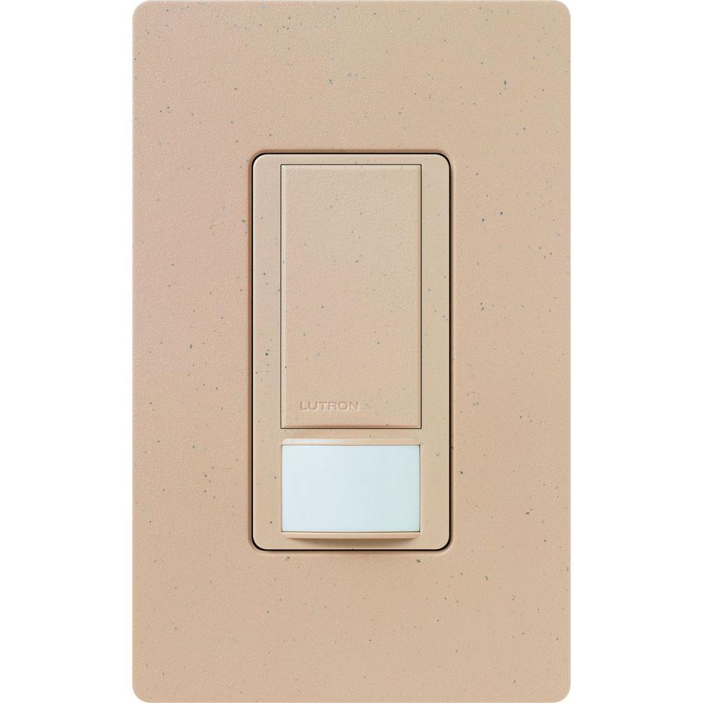 Lutron Maestro Dual Voltage Vacancy Sensor switch, 6-Amp, Single-Pole, Desert Stone