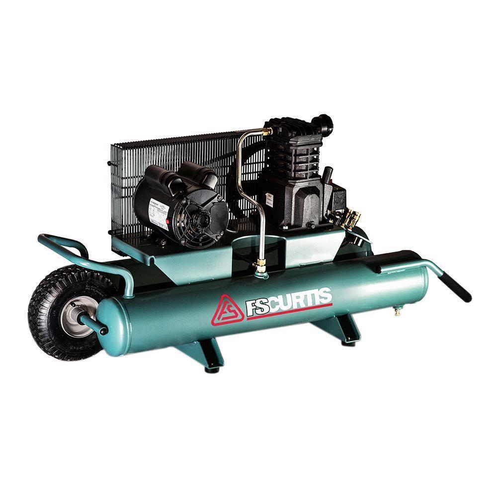 FS-Curtis 9 Gal. 2 HP Portable Electric 120-Volt Single Phase Wheelbarrow Air Compressor by FS-Curtis
