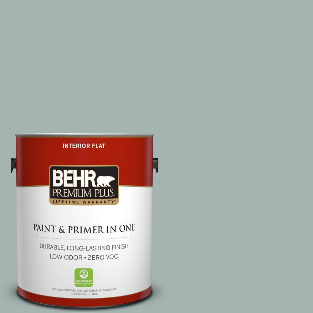 1 gal. #PPU12-09 Frozen Pond Zero VOC Flat Interior Paint