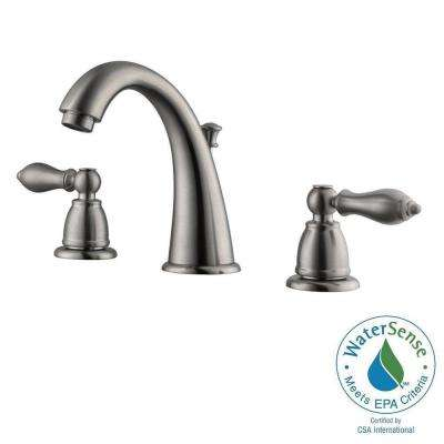 Hathaway 8 in. Widespread 2-Handle Bathroom Faucet in Satin Nickel