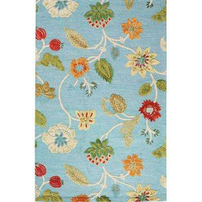 Portico Light Blue 8 ft. x 11 ft. Area Rug