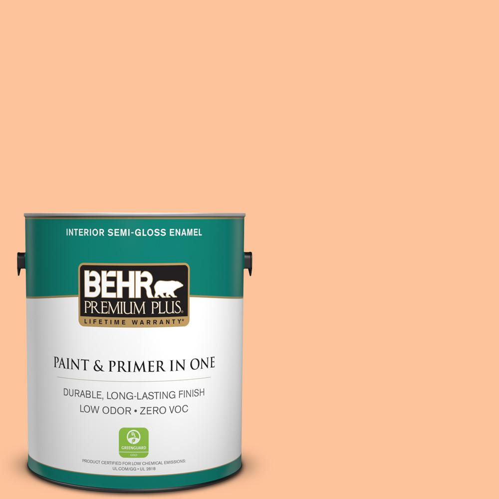 1 gal. #260B-4 Orange Sherbet Semi-Gloss Enamel Zero VOC Interior Paint