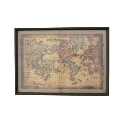 27.5 in. x 1.5 in. x 19.75 in. Wood Framed Wall Decor in Multi-Colored Wall Art
