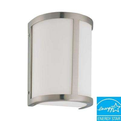 Andra 1-Light Brushed Nickel Sconce