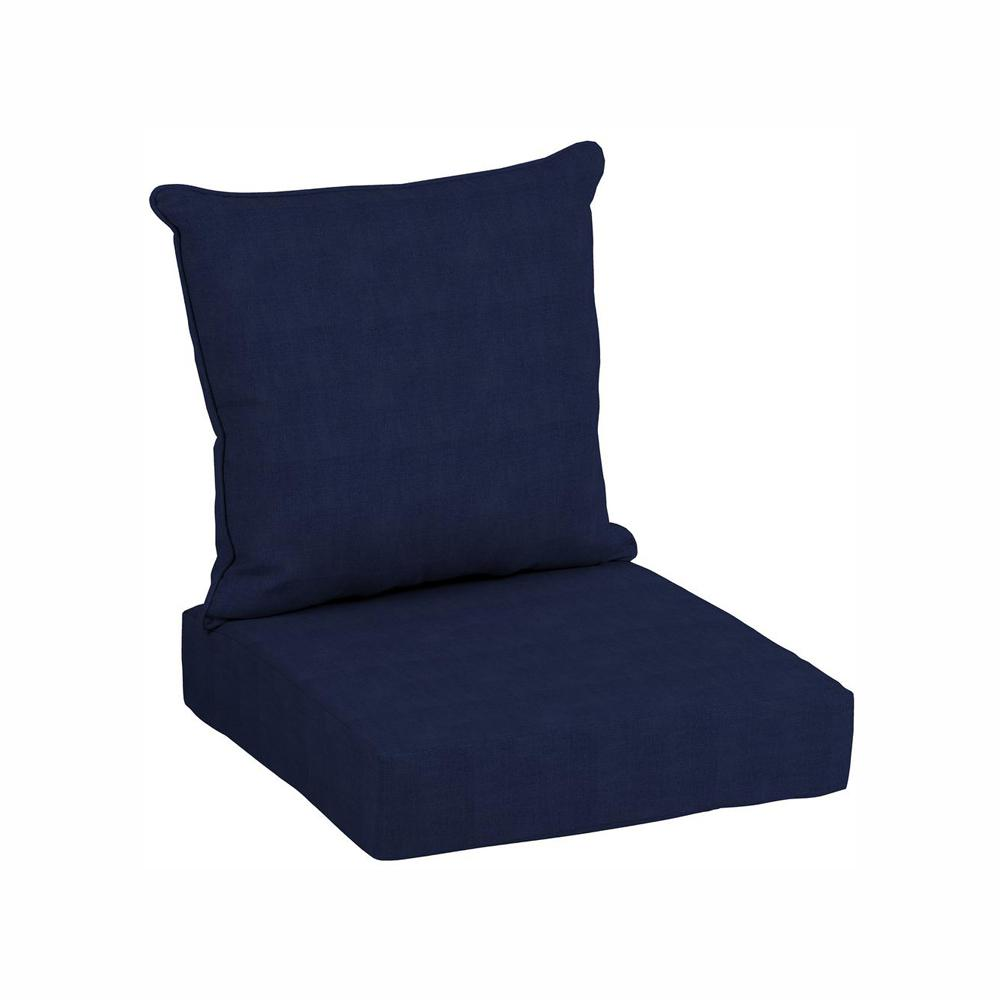 hamptonbay Hampton Bay 24 x 24 CushionGuard Midnight Deep Seating Outdoor Lounge Chair Cushion
