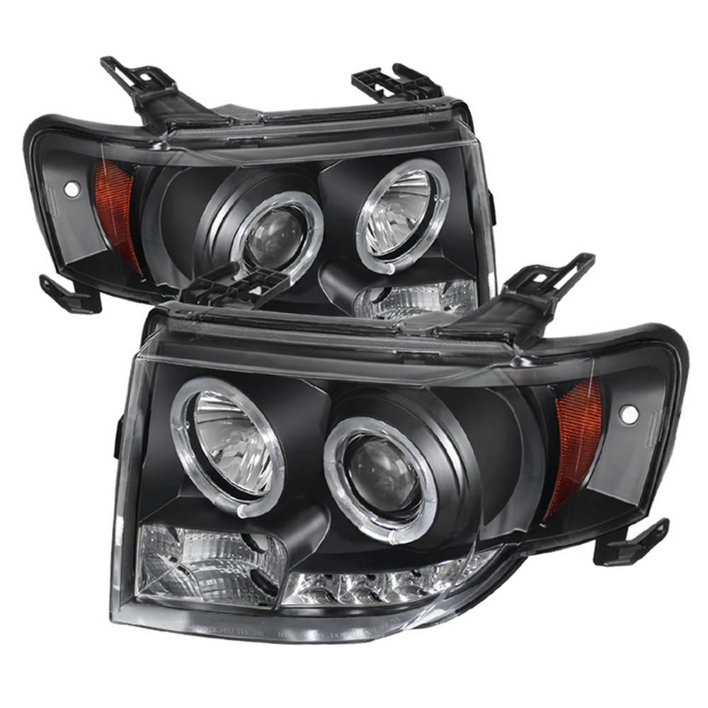 Spyder Auto Ford Escape 08-12 Projector Headlights - Halogen Model Only (  Not Compatible With Xenon/HID Model ) - DRL - Black