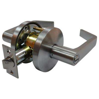 2-3/4 in. Satin Chrome Cylindrical Calypso Privacy Lever with Latch