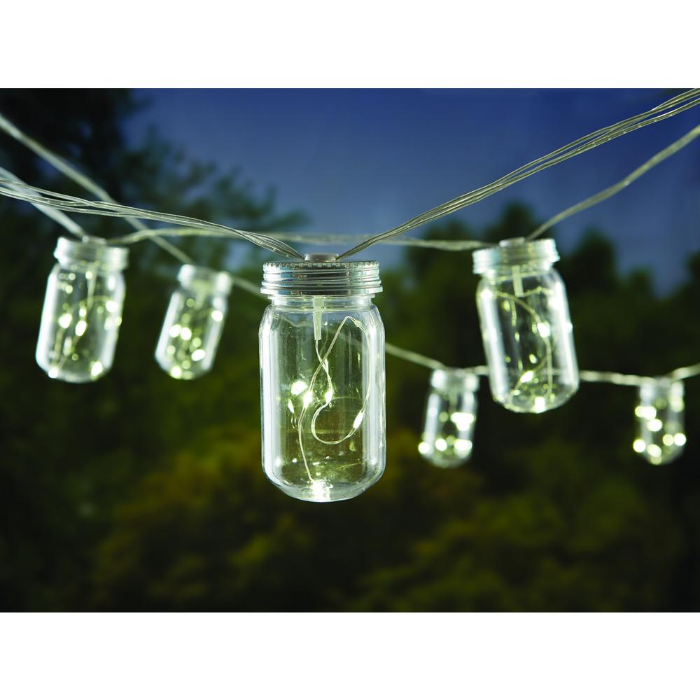 Plastic Mason Jar Patio String Lights