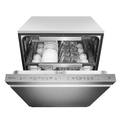 24 in. Top Control Built-In Tall Tub Smart Dishwasher in Textured Steel w/ QuadWash & Wi-Fi Enabled, ENERGY STAR, 40 dBA