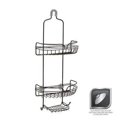 Over-the-Shower Head Caddy in Bronze