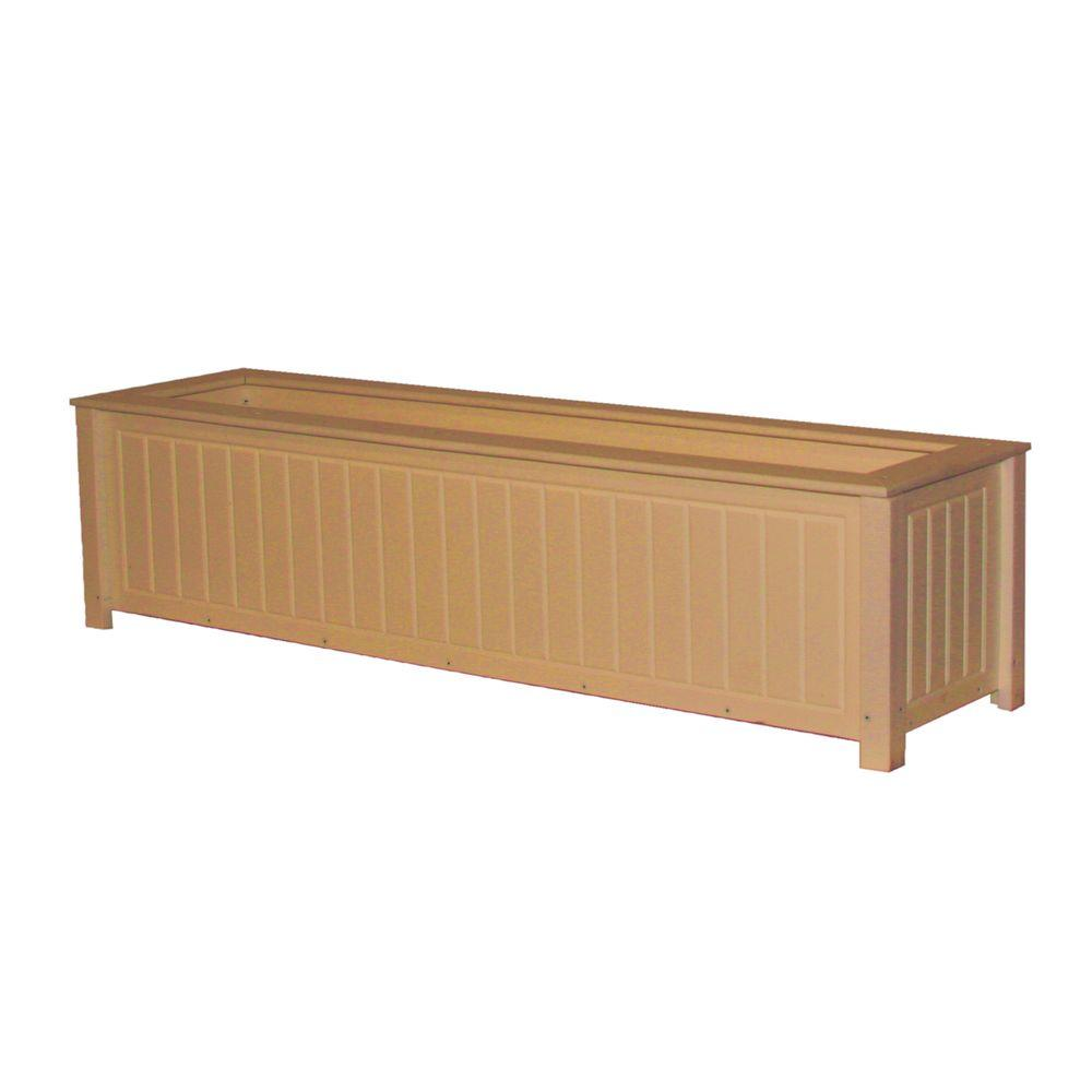 Eagle One North Hampton 48 In X 12 In Cedar Recycled Plastic