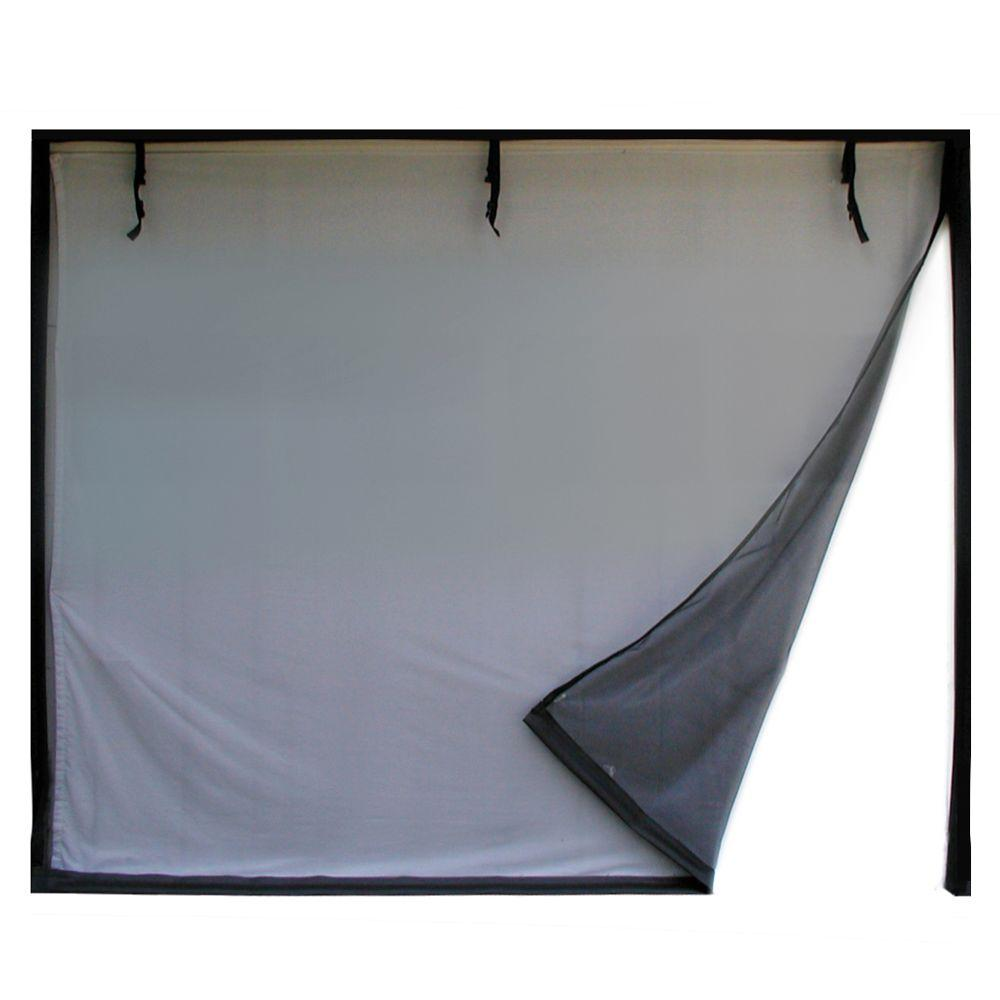 10 ft. x 8 ft. 3-Zipper Garage Door Screen With Rope/Pull