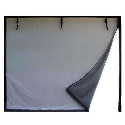 16 ft. x 8 ft. 3-Zipper Garage Door Screen With Rope/Pull
